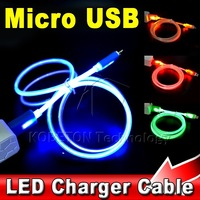 Visible LED Light Micro USB Data Sync Charger Cable 1M for HTC One Nexus SONY Xperia Xiaomi Huawei for Samsung Galaxy S4 S5..