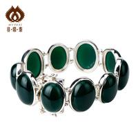 Thai silver agate bracelet 925 pure silver jewelry handmade natural female