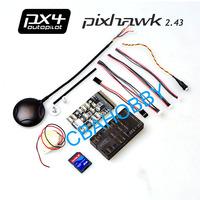 Pixhawk PX4 Autopilot PIX 2.43 Flight Controller 32 bit ARM Set with Ublox NEO-6M GPS with Case for RC Model Better Than APM