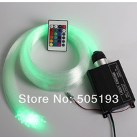 RGB LED Fiber Optic Star Ceiling Light Kit 300pcs 2M 0.75mm optic fiber+16W LED RGB Light Engine+24Key IR Remote
