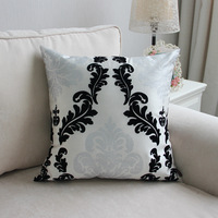 45*45cm,2pcs Silver Hot flocking silk pillow cover decor lumbar support sectional couch cover for household