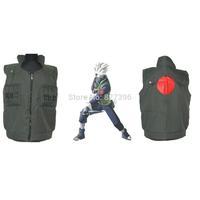 HOT Anime NARUTO Kakashi Hatake Ninja Vest Cosplay Costumes Uniform