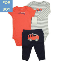 Carter Product Baby Boy 3-pcs Pant Boutique Suits Infant Clothing Set 3 9M, Orange Truck,In store, Free shipping