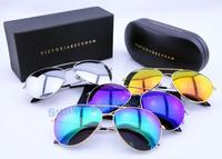 News Brand Designer oculos de sol VB Aviator men women Fashion victoria beckham  Polarized Sunglasses with original box