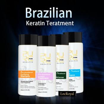 Бразильская обработка кератина 100 мл х 4 один комплект кератина волос выпрямление ...