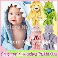 Adorable!10  Styles Designs Hooded Animal modeling Baby Bathrobe/Cartoon Baby Towel/ kids bath robe/infant bath towels