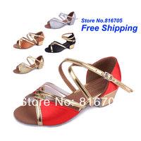 Latin square women's dance shoes dance shoes jazz shoes soft outsole female child dance shoes 206