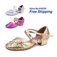 Latin square women's dance shoes dance shoes jazz shoes soft outsole female child dance shoes 208
