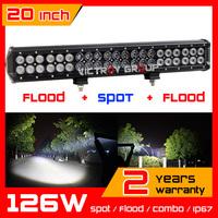 126w CREE  LED Light Bar 10-30v IP67 adjustable brackets Truck  ATV Fog Light Offroad CREE LED Work lights Save on 120w 240w