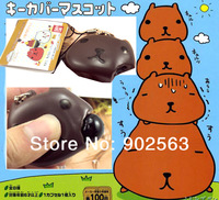 2014 new arrival tokyo RARE anime kapibarasan phone food straps quishy charms squeeze toy+tag chocolate 10pcs/lot freeshipng