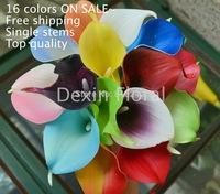 Celebration!! 15 Colors PU Real/Natural Touch Mini Calla Lily Bundle Single Stems for Bridal bouquet wedding decor centerpieces