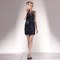 2014 fashion slim noble bling short formal dress ne14159 vestidos para mae de noivas