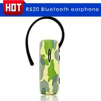 R520 bluetooth earphones wireless earphones Camouflage earphones mobile phone general earphones stereo free shipping
