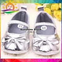 Fashion Girls baby brand shoes Ballerina Slipper shoes bright color bowknot calzado bebe princess prewalkers #2X0116 3 pair/lot