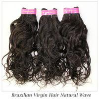 "Elites Hair Products Brazilian virgin hair Water Wave 3pcs lot 12""-28"" Natural Color 5A Brazilian Virgin Natural Wave"