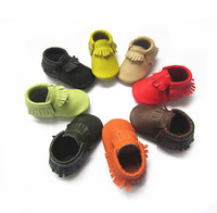 genuine leather  baby moccasin shoes