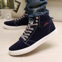 new 2014 men casual shoes men suede men sneakers shoes male fashion shoe men soft leather shoes sport high top wholesale JQ-S600
