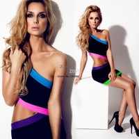 New Arrival Women's Celeb Mini Bodycon Dresses Backless Hollow-out Party Neon Short Club wear Dress b8 SV000844