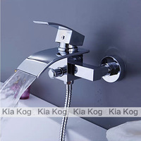 Bathroom Bathtub Waterfall Shower Faucet. Waterfall Shower Set. hand-hold Shower Head and Faucet. Bathtub mixer tap.WB-003T