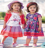 girls dress  wholesale baby  baby gift set new arrival brand clothing  baby clothing  floral summer sets  baby fashion clothes