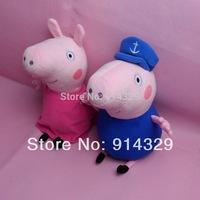 New 2pcs/set Pepa pig Family Toys Peppa Grandpa & Grandma Granny Plush Stuffed Soft Doll Kids Friends Birthday Gifts Brinquedos