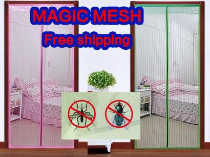 frete grátis magic mesh cortina mosquito porta de tela magnética tarja magnética mosquito m9056 verão(China (Mainland))