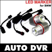 New 2Pcs/Set E39 20W LED Marker Car Angel Eyes Bulb for BMW E87 E60 E61 E64 E65 E66 E53 E83 X3.Free shipping