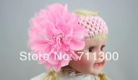 whoelsale 5pcs/lot 2014 new baby girls headband infant mesh big flower headwear kids headbands,children hair accessories