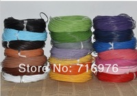 Free Shipping 12color Round Real Leather cow leather Jewelry Cord 2mm 100M Length(Choose  color)