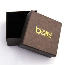 Bamoer Brown Paper Gift Box for Necklace Bracelet Earrings Jewelry Packaging 7.3*7.3*3.5CM BZ0016
