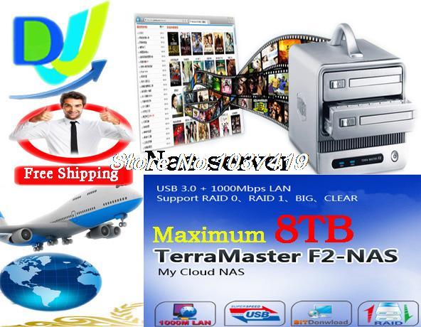 Сетевое хранение данных Terra master 2/nas USB 3.0 3.5' /II/III 8 RAID, ftp/smb BT/PT F2-NAS mf2300 f2