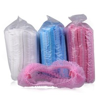 Free Shipping 100 pieces per bag Disposable Non-woven Caps for hair dyeing