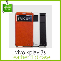 Original vivo xplay 3s 6 inch Wake-up window leather flip cover case 100% fit FREE SHIPPING include GIFT screen protector