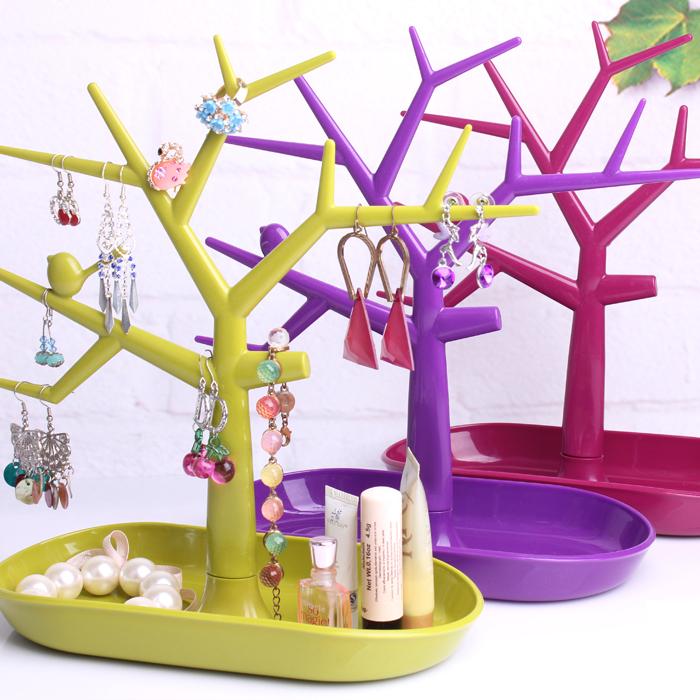 Free shipping Bird multifunctional jewelry holder accessories display rack earring rack ring frame bracelet storage(China (Mainland))