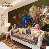 European retro-dimensional mural wallpaper living room backdrop