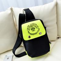 Autumn new arrival 2014 women's chest pack color block neon nylon one shoulder cross-body bag women's handbag