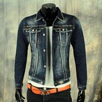 New 2014 jaqueta masculina brand women clothing denim coat jackets for men winter outerwear silm cowboy blue supreme jacket S-XL