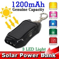 1200mAh Portable Solar Battery Source Charger Solar Power Bank 4 4s for s4 s5 for SONY Xperia z1 z2 z3 for HTC with Flashlight