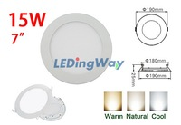 Pure White / Warm White 15W LED Panel Light 5730 SMD 80 Beads Ceiling Downlight Recessed Round Lamp
