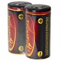 2pcs/lot Button top original Trustfire 32650 battery rechargeable battery 3.7v 6000mah / trustfire protected with PCB