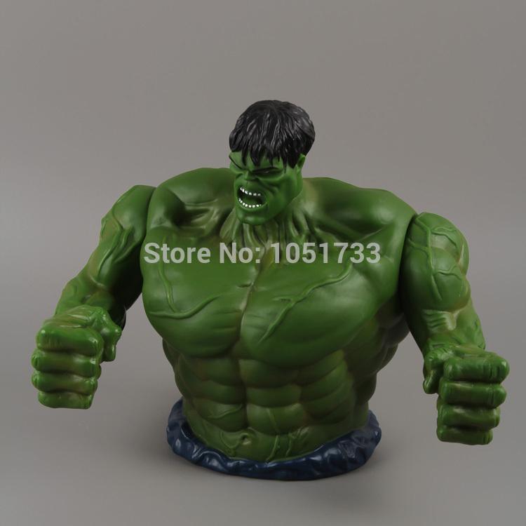 Free Shipping The Avengers Incredible Hulk PVC Action Figure Toy Piggy Bank Saving Money 20cm HRFG131(China (Mainland))