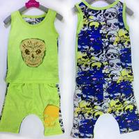 wholesale (4sets/lot) summer 4 colors cartoon vest & shorts set for 1-5 years old Child boy