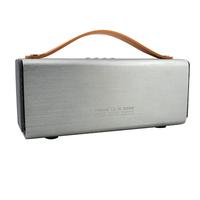 Silver Outdoor A2DP V4.0 Bluetooth Stereo Speaker Portable Hi-fi Caixa De Som Bluetooth Wireless Music Box With Mic