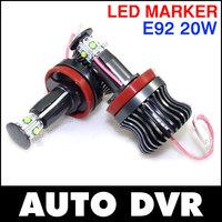 2Pcs/Set LED ANGEL EYES 20W CREE CHIP MARKER for BMW E90 E92 E60 E81 E84 E61 F01 F02 H8.Free shipping