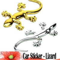 New 3D Gold  Silver Lizard Sticker Car Emblem Logo Paper