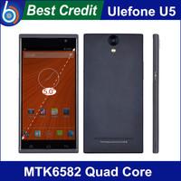 "New original Star Ulefone U5 Mobile Phone 5.5"" IPS QHD Screen MTK6582m Quad Core 1.3GHz 4GB Rom 5.0MP Camera Dual Sim"