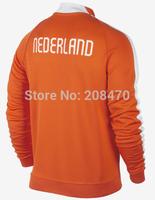 New Netherlands Orange football jacket  men's designer long sleeve soccer coat Holland winter outer coat training wear tracksuit
