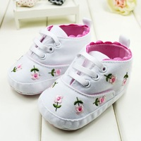 Baby Girl Flower First Walkers Shoes Bebe Spring/Autumn Princess Shoes Prewalkers Footwear Toddler Soft Sole Shoes  2 Colors