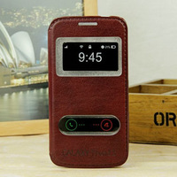 Luxury Leather pu Case Cover  for samsung galaxy trend 3 G3502 G3502U G3508 G3509 with view window flip sleeve PY