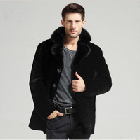 2014 new mink fur male high imitation fur jacket Mens fur coat Y1P0